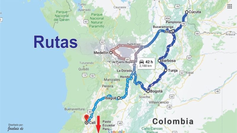 Colombia - Walker Routes